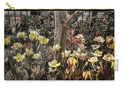 Carry-all Pouch featuring the photograph Spring Flowers by Joann Vitali
