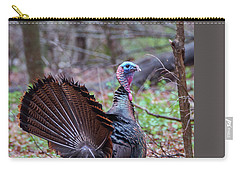Carry-all Pouch featuring the photograph Spring Gobbler by Bill Wakeley