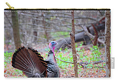 Carry-all Pouch featuring the photograph Spring Gobbler Square by Bill Wakeley