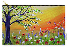 Carry-all Pouch featuring the painting Spring Has Sprung by Sonya Nancy Capling-Bacle