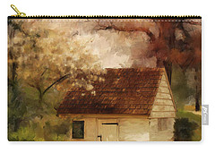 Carry-all Pouch featuring the digital art Spring House In The Spring by Lois Bryan
