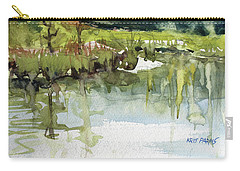 Carry-all Pouch featuring the painting Spring Impression by Kris Parins
