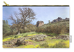 Carry-all Pouch featuring the photograph Spring In Pinnacles National Park by Art Block Collections