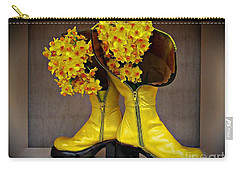 Spring In Yellow Boots Carry-all Pouch by AmaS Art