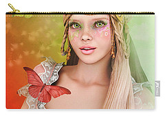 Carry-all Pouch featuring the digital art Spring Is In The Air by Jutta Maria Pusl