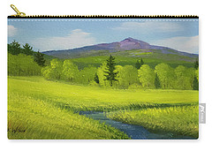Carry-all Pouch featuring the painting Spring Meadow Brook by Frank Wilson