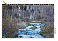 Spring Melt Off Flowing Down From Bonanza Carry-all Pouch by James BO Insogna