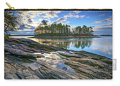 Carry-all Pouch featuring the photograph Spring Morning At Wolfe's Neck Woods by Rick Berk