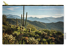 Carry-all Pouch featuring the photograph Spring Morning In The Sonoran  by Saija Lehtonen