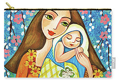 Carry-all Pouch featuring the painting Spring Mother by Eva Campbell
