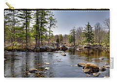 Carry-all Pouch featuring the photograph Spring Near Moose River Road by David Patterson