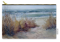 Spring On Lake Michigan Carry-all Pouch by Sandra Strohschein