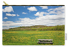Carry-all Pouch featuring the photograph Spring Picnic by Alan L Graham