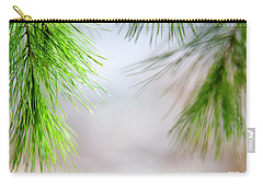 Carry-all Pouch featuring the photograph Spring Pine Abstract by Christina Rollo
