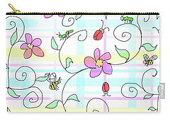 Spring Plaid Carry-all Pouch by Debra Baldwin