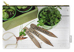 Carry-all Pouch featuring the photograph Spring Plants by Rebecca Cozart