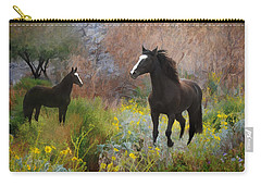 Carry-all Pouch featuring the photograph Spring Play by Melinda Hughes-Berland
