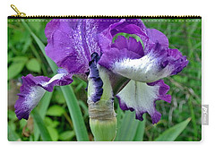 Carry-all Pouch featuring the photograph Spring Purple Iris by Marsha Heiken
