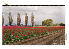 Spring Red Tulip Field Landscape Art Prints Carry-all Pouch