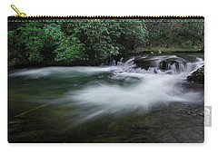 Carry-all Pouch featuring the photograph Spring River by Mike Eingle