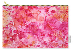 Carry-all Pouch featuring the painting Spring Rose Abstract by Patricia Lintner
