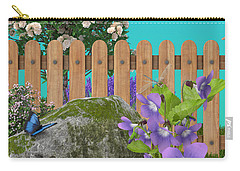 Carry-all Pouch featuring the digital art Spring Scene by Mary Machare