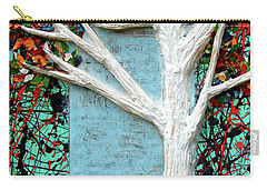 Carry-all Pouch featuring the painting Spring Serenade With Tree by Genevieve Esson