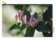 Carry-all Pouch featuring the photograph Spring Shrub With Pink Flowers by Cristina Stefan