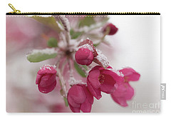 Carry-all Pouch featuring the photograph Spring Snow by Ana V Ramirez