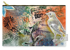 Carry-all Pouch featuring the mixed media Spring Song by Rose Legge