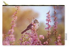 Carry-all Pouch featuring the photograph Spring Sparrow by Lynn Bauer