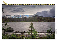 Carry-all Pouch featuring the photograph Spring Storm At Round Lake by Cat Connor