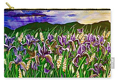 Spring Storm  Iris Fields Carry-all Pouch