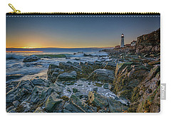Carry-all Pouch featuring the photograph Spring Sunrise At Portland Head by Rick Berk