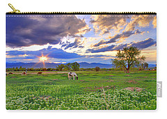 Spring Sunset Over The Rockies Carry-all Pouch by Scott Mahon