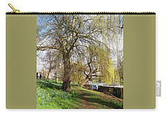Spring Sunshine On Cambridge Riverbank Carry-all Pouch by Gill Billington