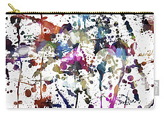 Carry-all Pouch featuring the digital art Spring Time Splat by Margie Chapman