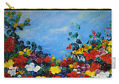 Carry-all Pouch featuring the painting Spring Time by Teresa Wegrzyn