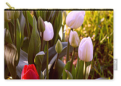 Carry-all Pouch featuring the photograph Spring Time Tulips by Susanne Van Hulst