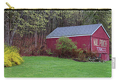 Carry-all Pouch featuring the photograph Spring Tobacco Barn by Bill Wakeley