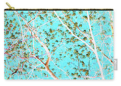 Spring Tree In Blue Carry-all Pouch by Mary Bedy