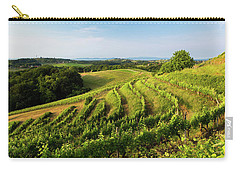 Carry-all Pouch featuring the photograph Spring Vinyard by Davor Zerjav