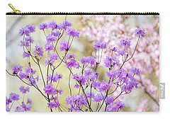 Carry-all Pouch featuring the photograph Spring Watercolors. Blooming Rhododendron  by Jenny Rainbow