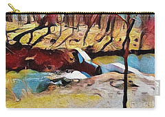 Spring Waterfall Carry-all Pouch by Kathie Chicoine