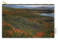 Carry-all Pouch featuring the photograph Spring Wildflowers At Diamond Lake In California by Jetson Nguyen