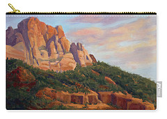 Springdale Sunset On Johnson Mountain Carry-all Pouch