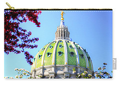 Carry-all Pouch featuring the photograph Spring's Arrival At The Pennsylvania Capitol by Shelley Neff