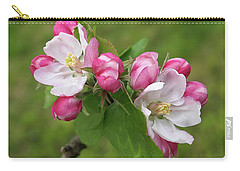 Springtime Apple Blossom Carry-all Pouch by Gill Billington