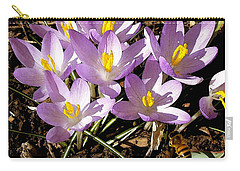 Springtime Crocuses  Carry-all Pouch