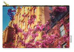 Springtime In New York - Pretty In Pink Carry-all Pouch by Miriam Danar